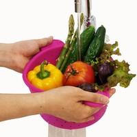 2 pcs/s Skepet silcone Multi-función Plegable Cesta de Frutas De Almacenamiento 2 colores para elegir