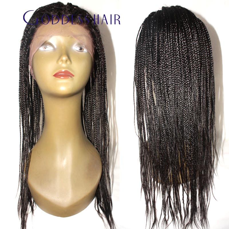 220% density box braided lace wigs 100 Brazilian virgin human hair full  lace wigs free part box braided wigs 20 days needed-in Human Hair Lace Wigs  from ... bfbb0f77a