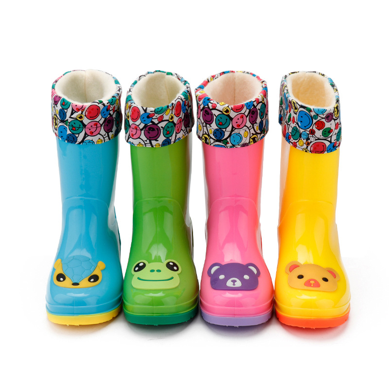 2 Pairs Anti-skid Washable Shoes Cover Overshoes Booties for 3-12 Boys Girls