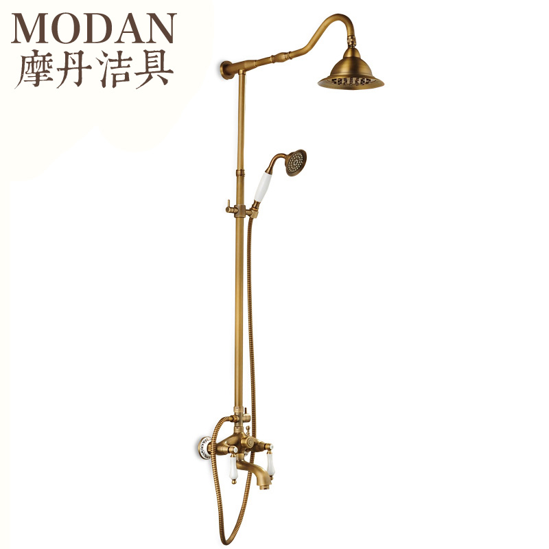 √antique copper shower set European style bathroom faucet retro ...