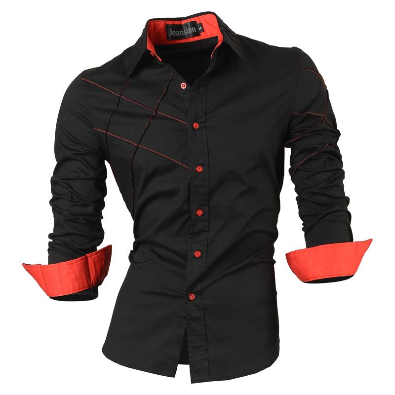 Jeansian Men's Fashion Dress Casual Shirts Button Down Long Sleeve Slim Fit Designer Tattoo Lion Z030 White2 2
