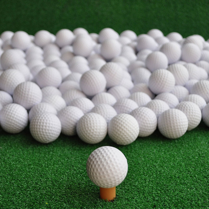 2017 New Brand Free Shipping 100 pcs/bag White Indoor Outdoor Training Practice Golf Sports Elastic PU Foam Balls