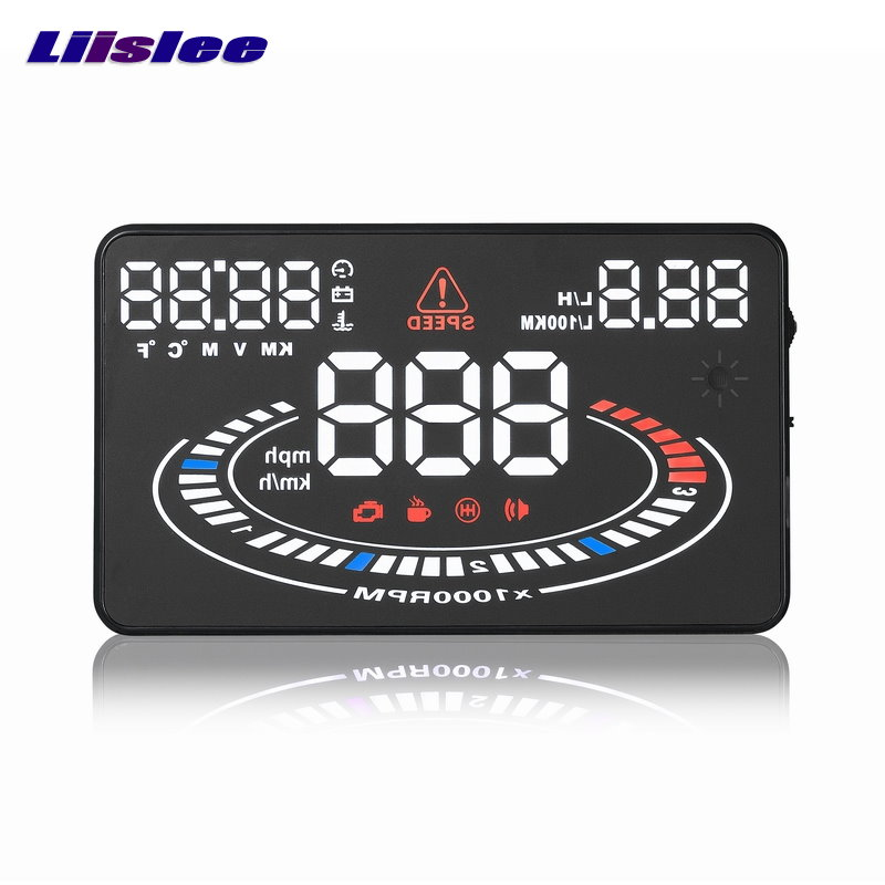 Liislee Car HUD Head Up Display For Mercedes Benz Sprinter - Reflect to windshield car's HUD head up display screen projector x5 obd2 hud heads up display automotive trip computer speed projector speed temperature fuel consumption hud head up display