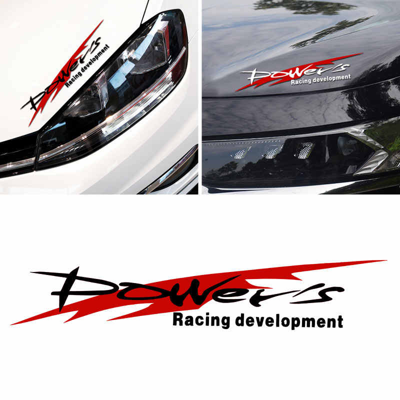 Power's Racing Development Auto Sticker Reflecterende Waterdichte Sticker Vinyl voor BMW Skoda Audi Ford Buick Honda Toyota KIA Nissan