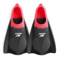 Schwimmen Flossen Erwachsene Schnorcheln Fuß Flipper KINDER Tauchen Flossen Anfänger Schwimmen Ausrüstung Tragbare kurze Frosch schuhe-in Schwimmflossen aus Sport und Unterhaltung bei