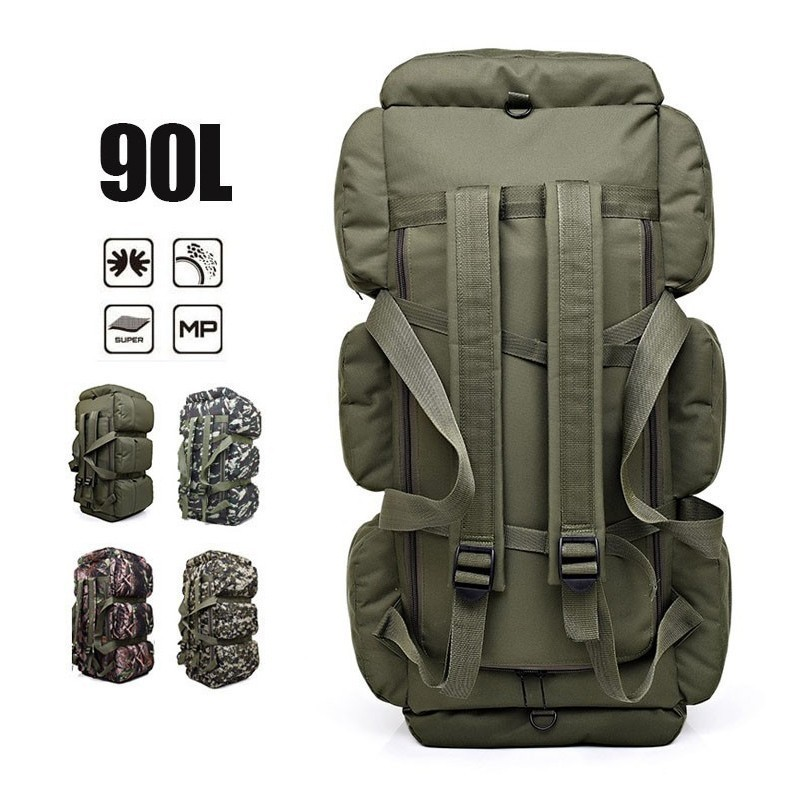 90L Hiking Backpack Camouflage Military Tactical Rucksack Outdoor Camping Tent Bag Army Waterproof Luggage Bags Camping Backpack90L Hiking Backpack Camouflage Military Tactical Rucksack Outdoor Camping Tent Bag Army Waterproof Luggage Bags Camping Backpack