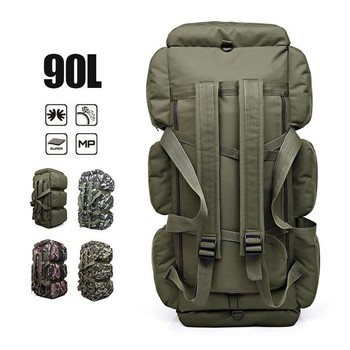 90L Hiking Backpack Camouflage Military Tactical Rucksack Outdoor Camping Tent Bag Army Waterproof Luggage Bags Camping Backpack