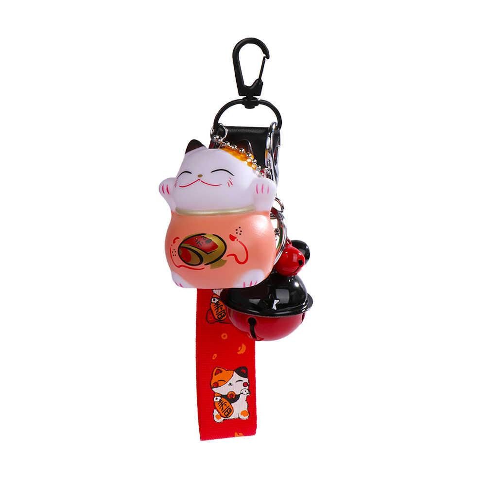Мода женщин счастливый кот брелок богатство здоровье аттракцион брелок Кот Фортуна подарок музыка брелок