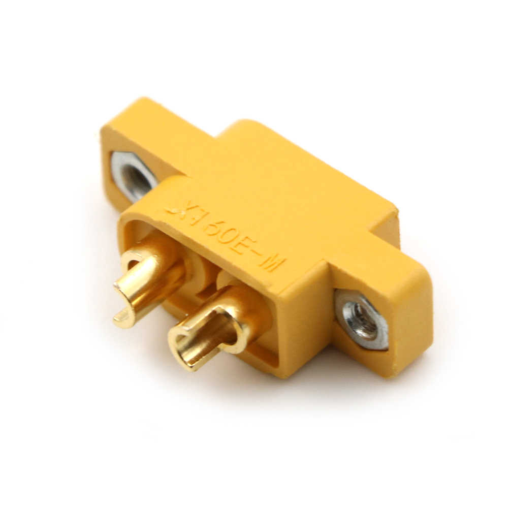 Желтый XT60E-M, монтируемый XT60 Штекерный Разъем для RC моделей, Мультикоптер, фиксированная плата, сделай сам, запасные части, пульт дистанционного управления, игрушки, запчасти