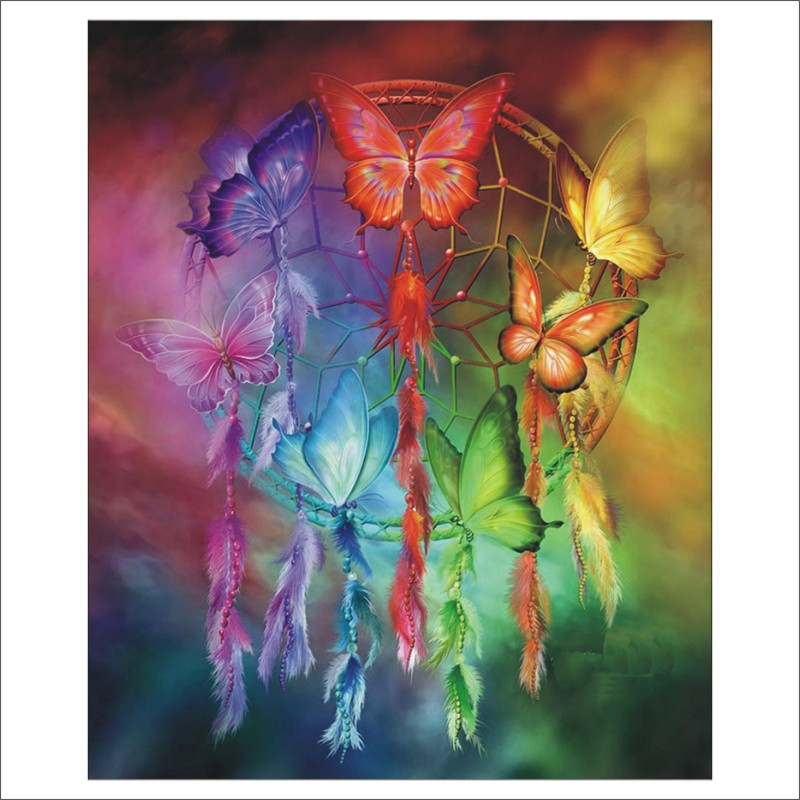 5D DIY Diamond Painting Campanula Butterfly Cross Stitch Diamond Embroidery Rhinestone Christmas Gifts Mural T019
