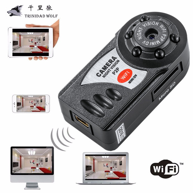 TRINIDAD WOLF Mini Q7 Camera 720P Wifi DV DVR Wireless IP Cam New Video Camcorder Recorder Infrared Night Vision Small Camera