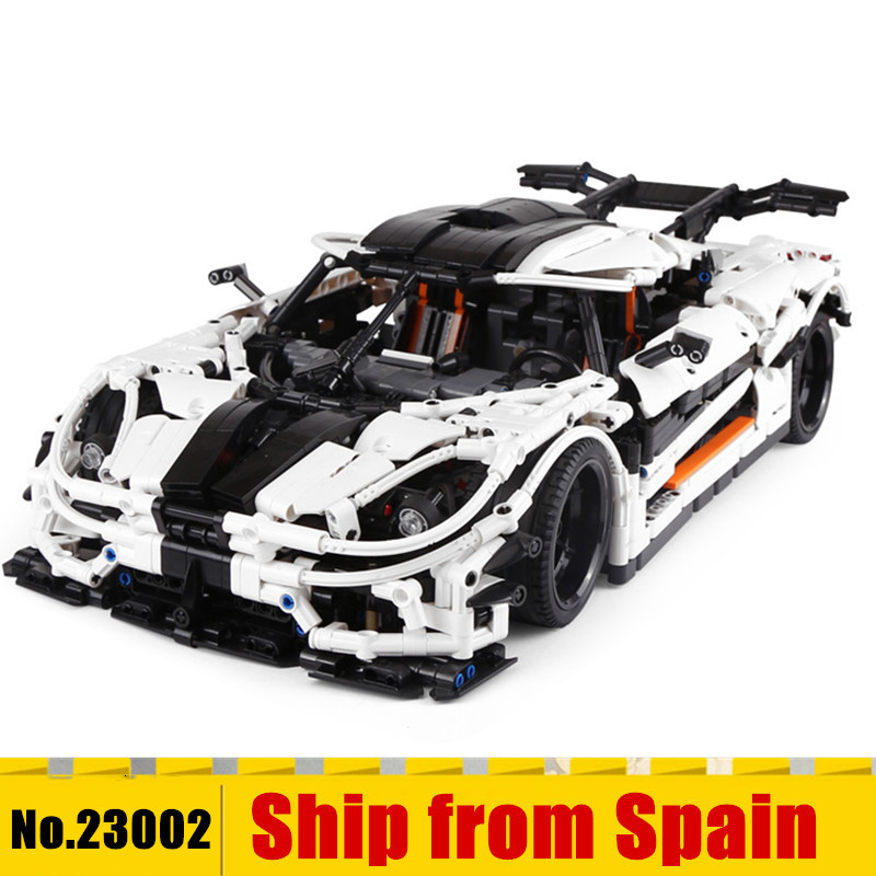 <font><b>23002</b></font> technic series compatible with 42056 kid's Educational toy car model building blocks bricks kits boys gifts image