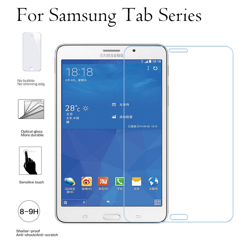 Tempered Glass HD Screen Protector Film 9H 0.3mm For Samsung Galaxy Tab S2 S 2 3 4 S A E 8.4 7.0 8.0 A6 tablet T360 Series Case