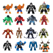 Single Sale Max Figures Hulk Buster Groot Thanos legoings Super heroes Dogshank Batman Venom Iron Man