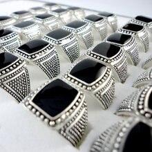 100 шт черные посеребренные кольца в винтажном стиле lr347 для
