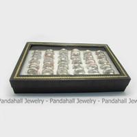 Fashion Rvs Gedrukt Sieraden Ringen, met Emaille, gemengde Kleur, 16 ~ 20mm