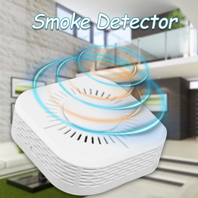 433MHz Smoke Detector Wireless Smoke Fire Alarm Sensor Protection For Home Security Alarm System Work With 433.92 RF Bridge