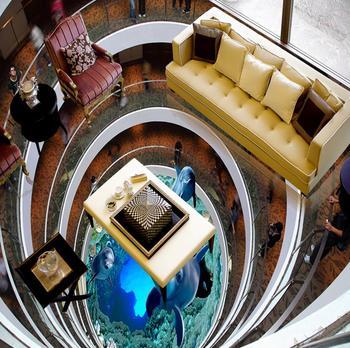 3D полы на заказ креативные дельфины фото обои фрески гостиная спальня Напольная плитка винил