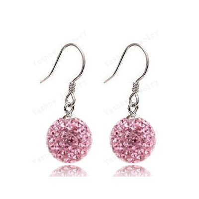 Aliexpress European Style 10MM Crystal Beads Earrings Micro Disco Ball Crystal D