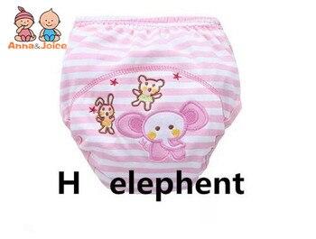 4pc/lot Pink Series Waterproof Baby Girls Potty Training Pant Infant Underwear Panties Newborn Underclothing suit 6 to 10kg 2