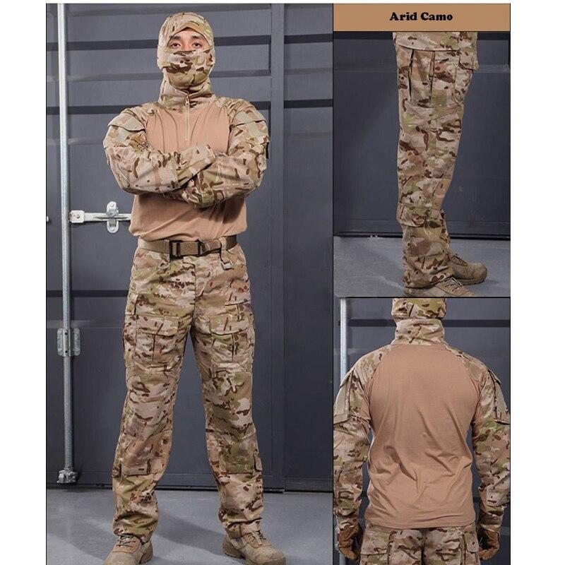 6 couleurs! Uniforme militaire tactique chemise + pantalon multicam uniforme Airsoft Paintball SWAT armée formation chasse Police costume - 4