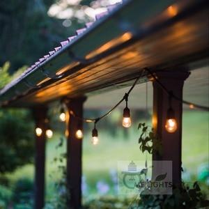 Водонепроницаемая сверхмощная 15 м наружная лампочка эдисона, соединительная гирлянда, вечерние гирлянды для сада, Рождественская гирлянда...
