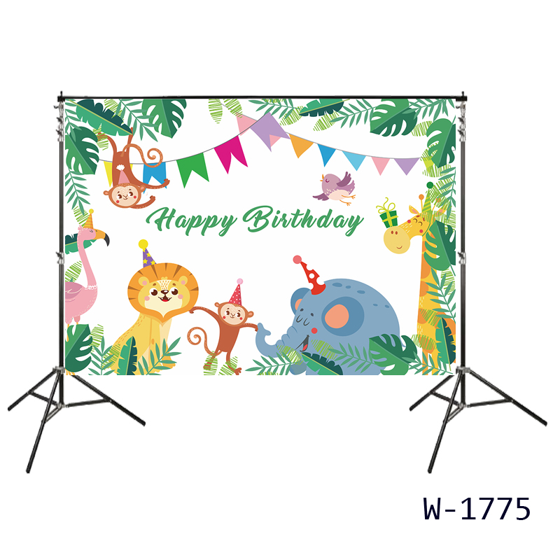 9x6ft Cute Cartoon Animals Zoo Photo Background Wild Hippo Giraffe Monkey Lion Elephant Safari Backdrop for Party Kids Birthday Baby Shower Genger Reveal Parties Photo Booth Props