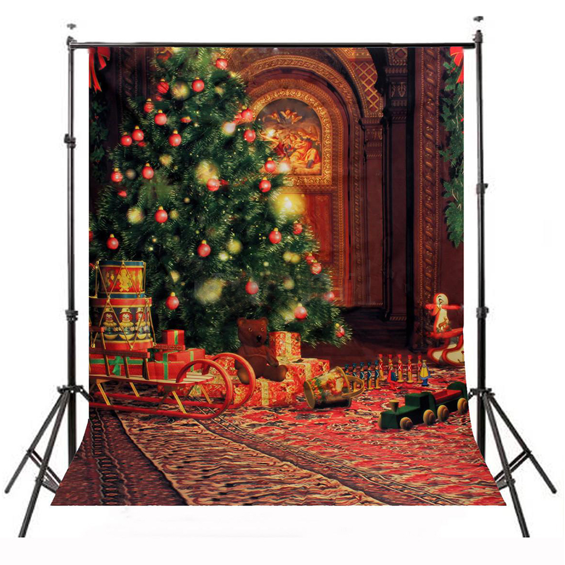 Top Deals 5x7FT Christmas Tree Carpet Photography Backdrop Studio Vinyl Background Props Photo Studio Accessories