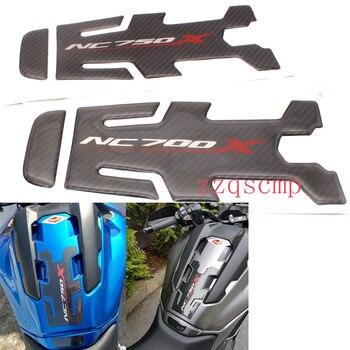 Para HONDA NC750X NC 750X NC700 NC700X, accesorios para motocicleta, almohadilla para depósito de gasolina de fibra de carbono, pegatina protectora