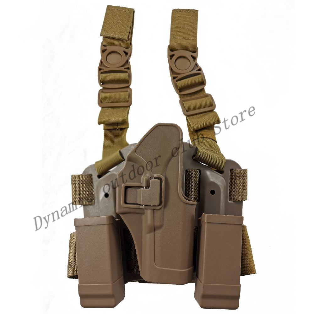 Tactical Combat Glock Pistol Gun Holster Military Hunting Shooting Gun Case Airsoft Leg Holster Fit For Glock 17 19 22 23 31 32