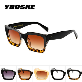 YOOSKE Men Women Sunglasses  Clear Colorful Frame  Sun Glasses For Lady Shades UV400 Sunglass Vintage Womens Glasses