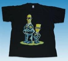 цены на Vintage Bart Simpson, Men in Black T-Shirt 2018 New Pure Cotton Short Sleeves Hip Hop Fashion Mens T Shirt  в интернет-магазинах