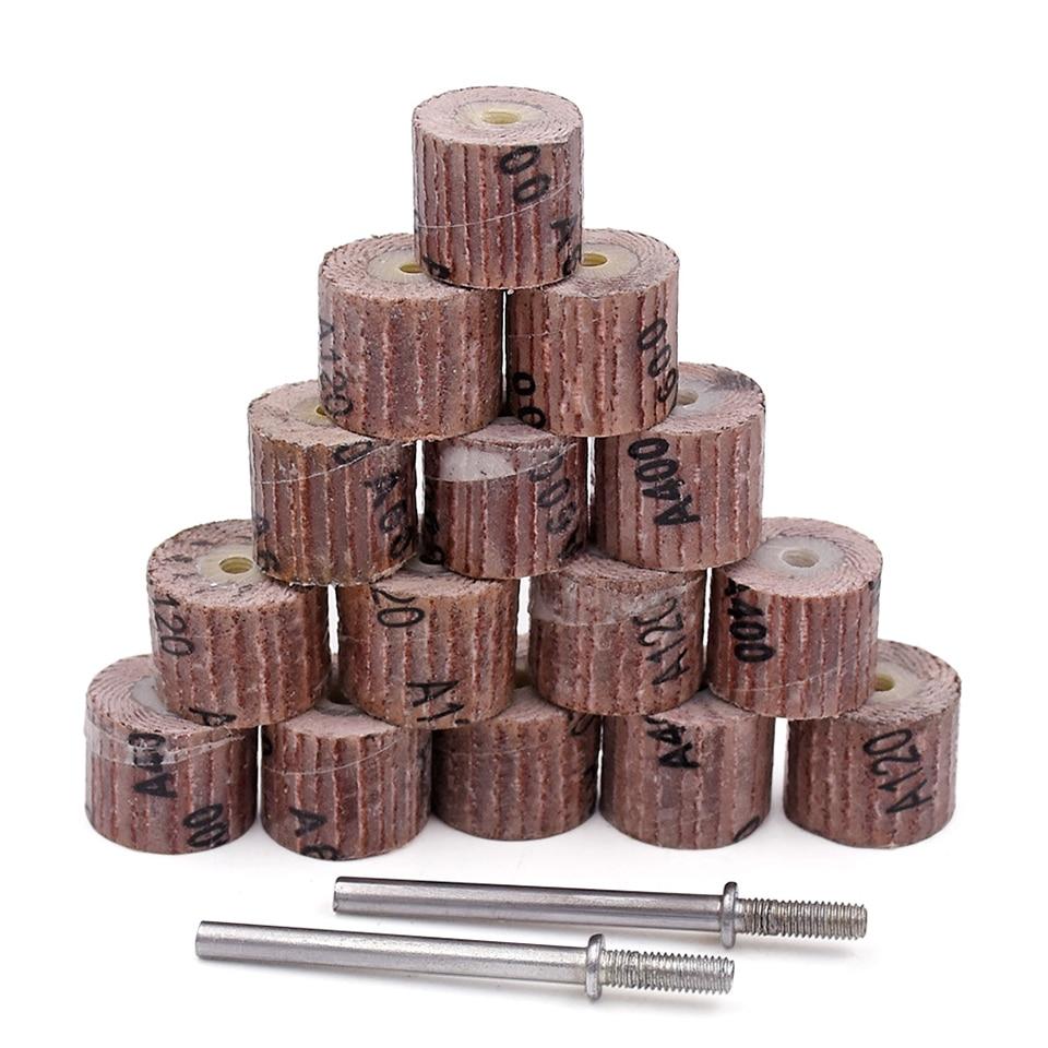 10pcs muela abrasiva de papel de lija para herramientas Dremel accesorios mini taladro herramienta rotativa pulido abrasivo para trabajar la madera