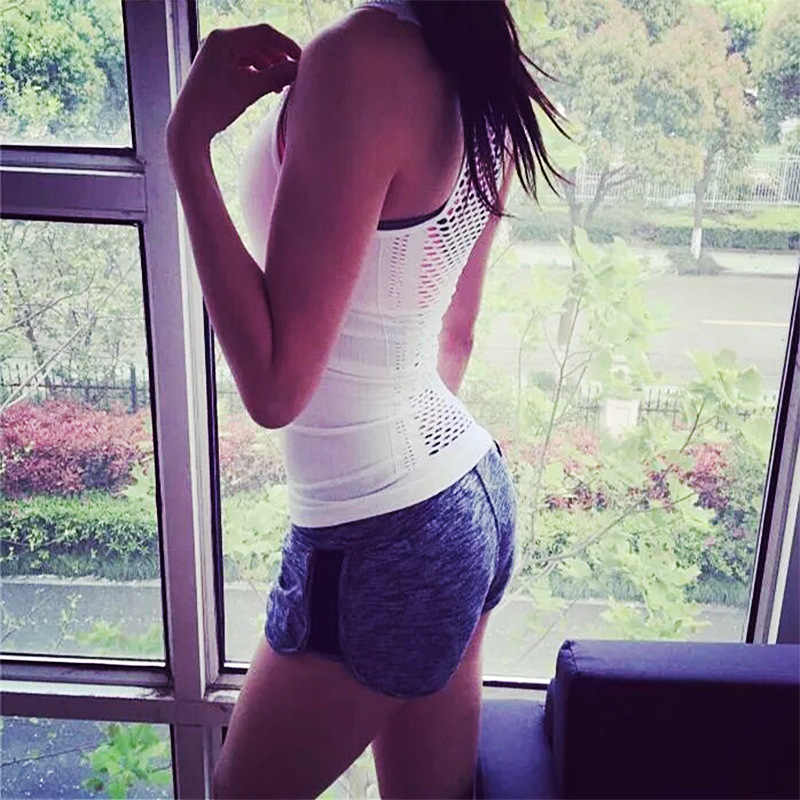 Summer Hollow Out Women sports vest Dry Quick Loose Gym Tight Tank Tops Fitness Sport Sleeveless Vest Singlet for Running vest