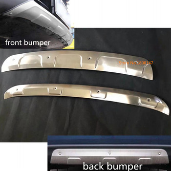 Car protection bumper Stainless Steel trim front head/rear hoods bottom moulding hoods For Mazda CX8 CX-8 2017 2018 2019 2020