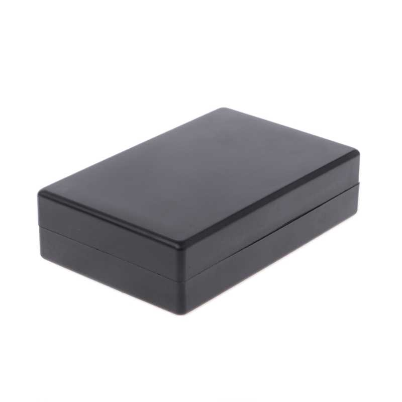 2019 New 125x83x32mm Black Waterproof Box Electronic Project Instrument Case Connector Built-in hole hold circuit board