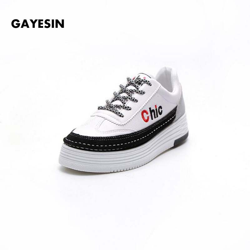GAYESIN Brand 2018 Spring Women New sneakers Autumn Soft Comfortable Casual Shoes Fashion Lady Flats Female shoes for student