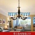 Средиземноморский подвесной светильник с тремя головками  потолочный светильник  лампа для столовой  спальня для учебы  свет  простой сад