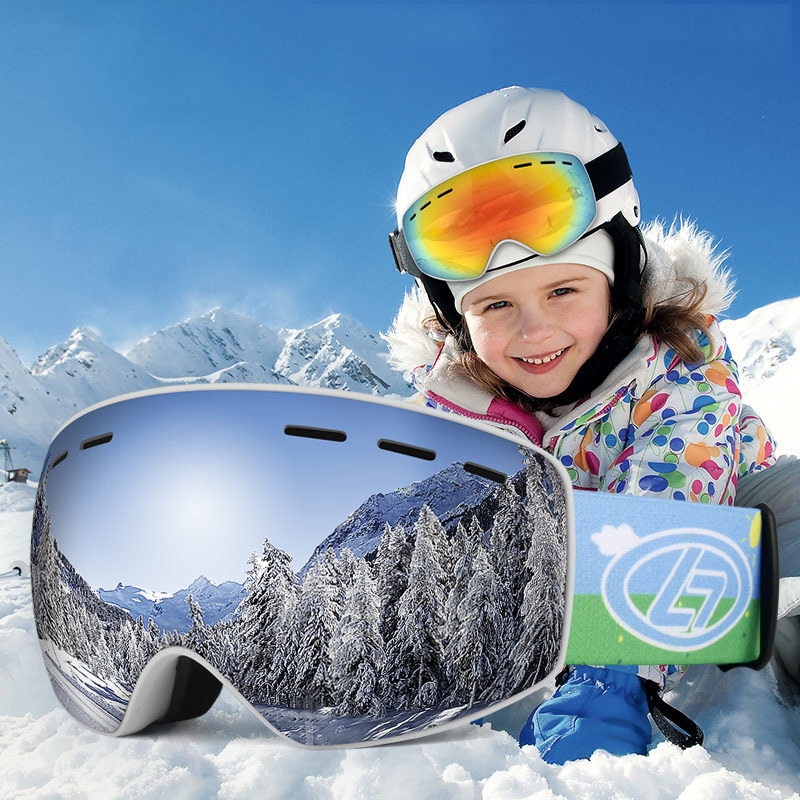 Children Ski Goggles UV400 Anti-fog Double Layers Skiing Mask Glasses Snowboard Skating Windproof Sunglasses Snow Eyewear