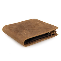 Leather Short Men's Wallet Credit Card Holder Coffee Causal Small Wallets For Male