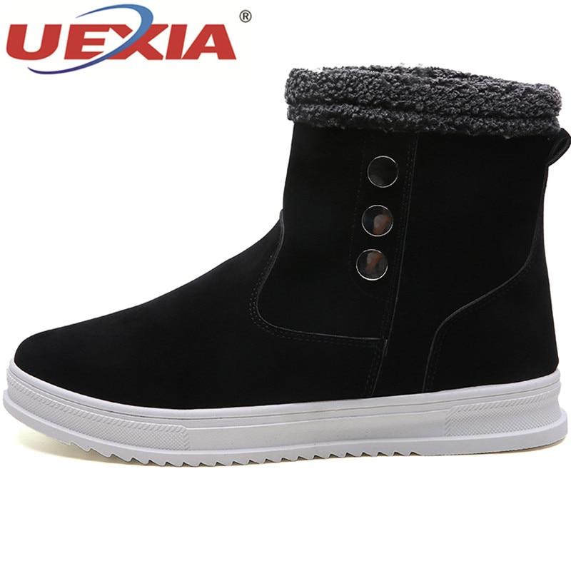 Nouveau Avec Zapatillas Neige Marche D'hiver Top Chaud Plein De Peluche Black gray Bottes Uexia Air Fourrure Chaussures Hommes Mode En brown High Casual dcWH0cPwqp