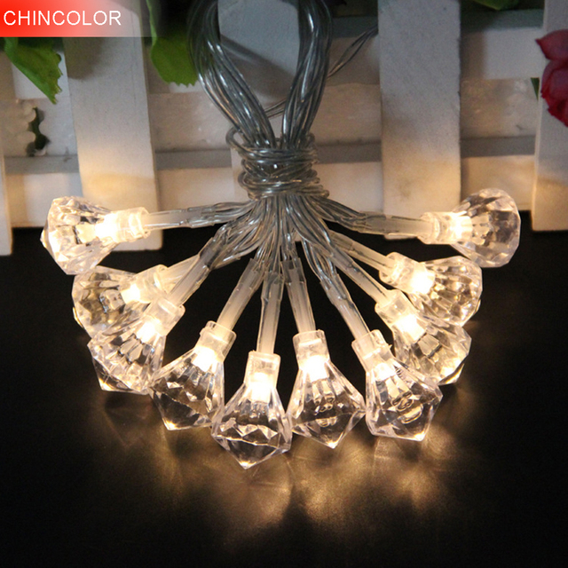 2.5-10M 20-100LEDS Holiday Lights Flashing Diamond shape Led Light String Battery/EU Plug Christmas Fairy Wedding Decoration CF