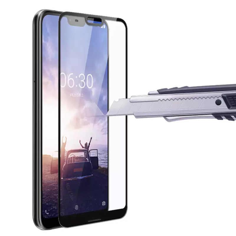 Kính cường lực Cho Nokia 5 6 7 Plus 8 9 2.1 3.1 5.1 6.1 7.1X5X7 Bảo Vệ kính cường lực full cover Tấm Bảo Vệ Màn Hình an toàn Bộ Phim