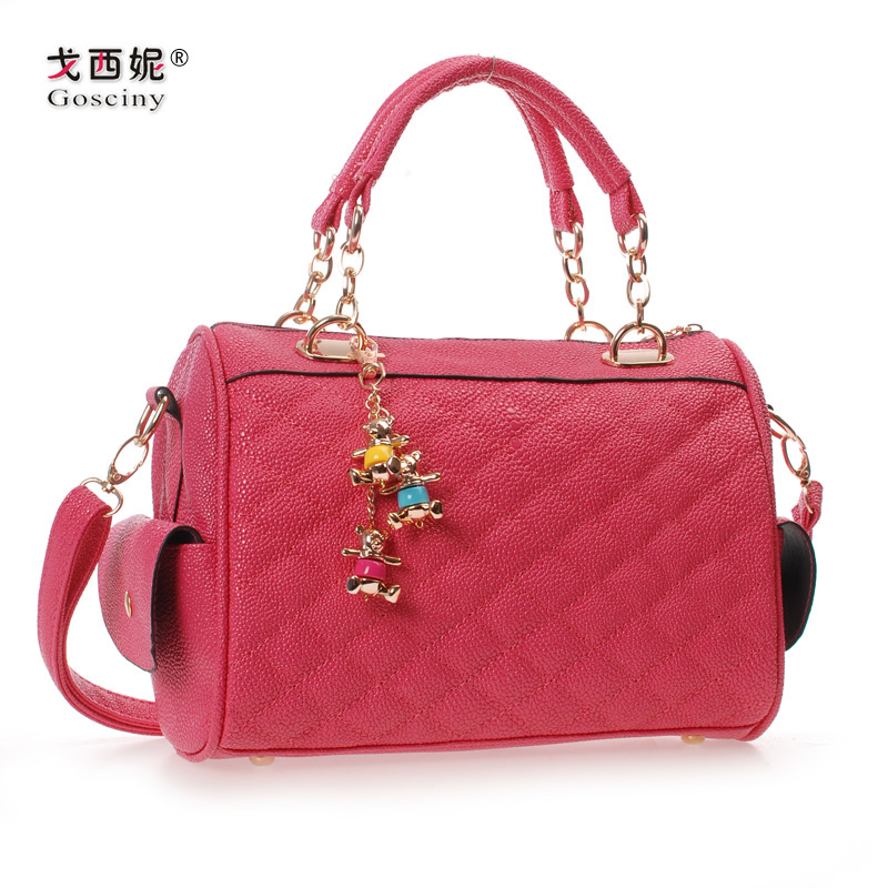 Candy color spring and summer female bags pearl pattern leather ...