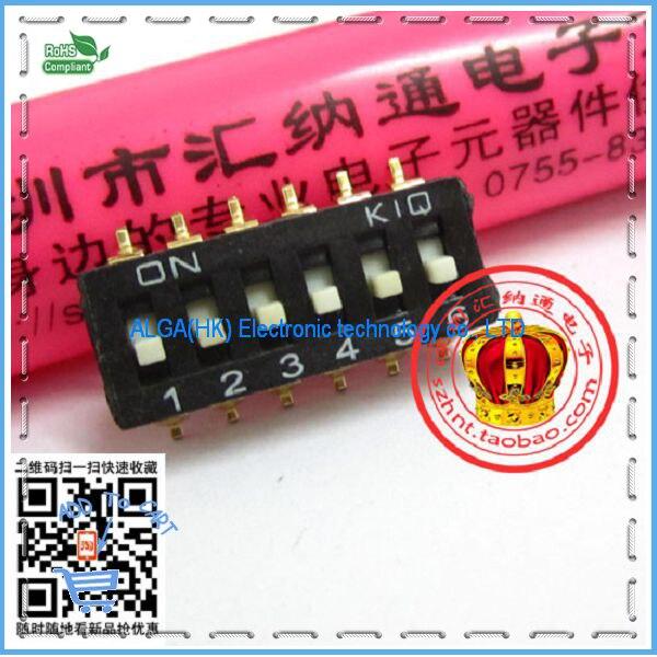 Free shipping .Black Chip 6 DIP h SMD 6P 2.54mm pitch IC DIP h DIP h level