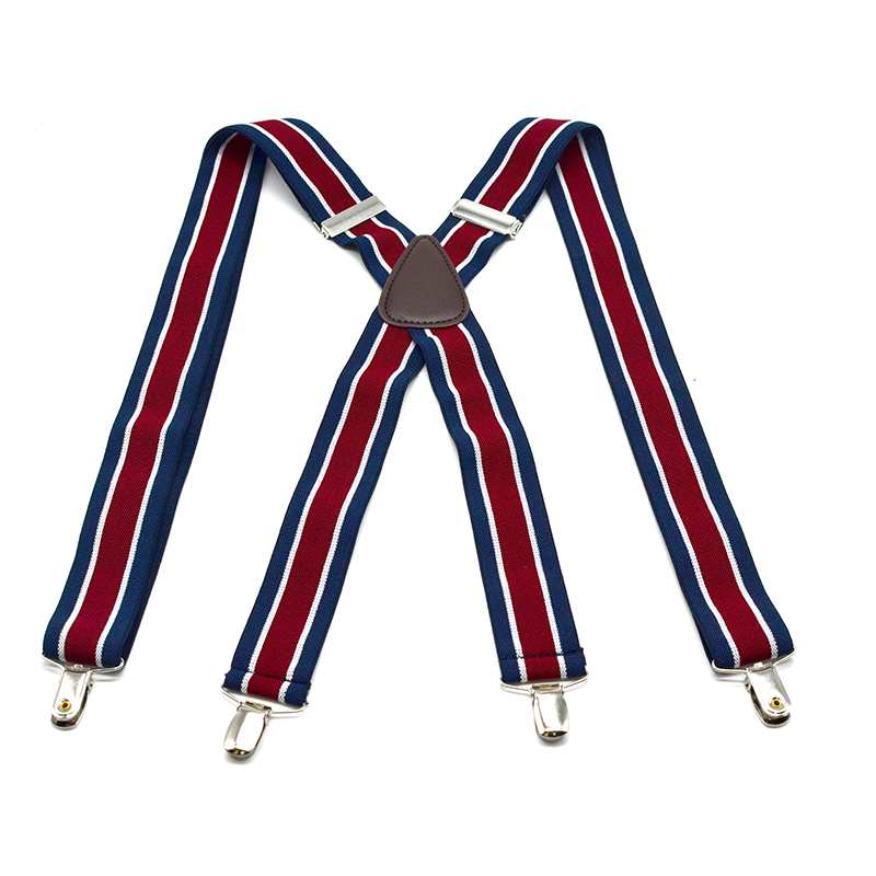 Striped Kids Suspenders Strap 4 Clips On Tirantes For Kids Boys Pants Accessories Elastic Adjustable Length 2018 New