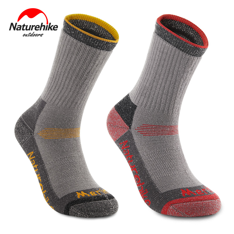 Naturehike Merino Woollen Socks Outdoor Hiking Socks Unisex Winter Inspissate Warmth Skiing Socks Mid-calf Length Socks