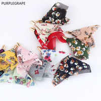 DIY materials Japan and South Korea fashion sweet chiffon flower tassel homemade earrings headwear accessories pendant 10 pieces