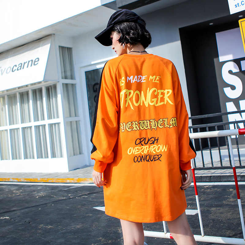 Хип-хоп женские толстовки Женский трикотажный хлопчатобумажный пуловер Femmes повседневные забавные повседневные осенние удобные топы для девочек 2019 Новые Желтые красные