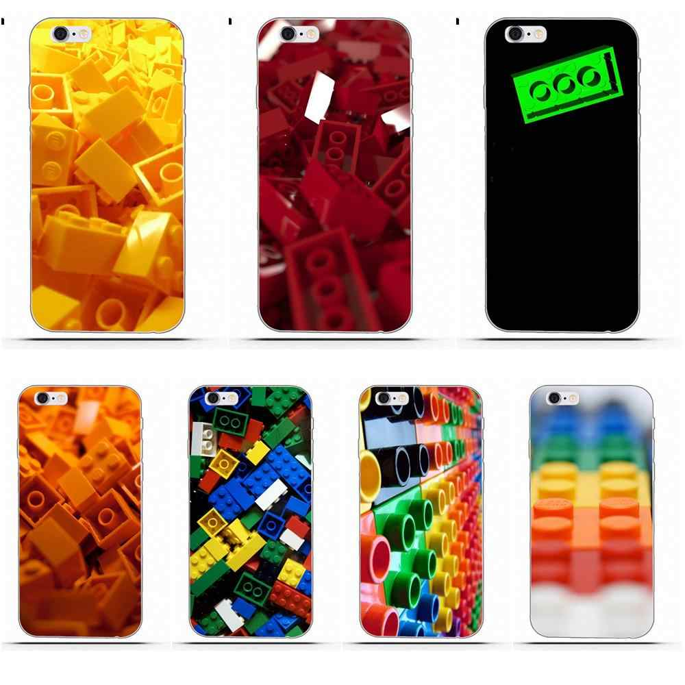Perciron brique Lego pour iPhone 4 4 S 5 5C SE 6 6 S 7 8 Plus X Galaxy S5 S6 S7 S8 Grand Core II Prime Alpha impression souple Capa